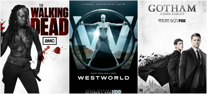 Novedades de Gotham / Batman, Supergirl, The Walking Dead, Supernatural / Scooby Doo, Blindspot, Anatomía de Grey, Érase una vez, Westworld, FearTWD, Legion, Americans, Daredevil, Expanse, Sta. Clarita Diet y más series de Netflix .